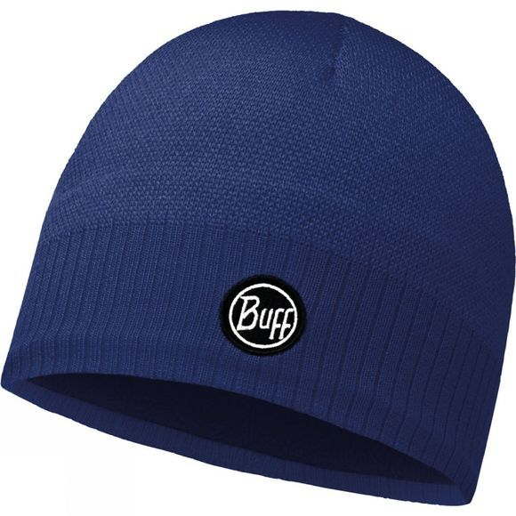 Buff Taos Knitted Hat Blue Ink