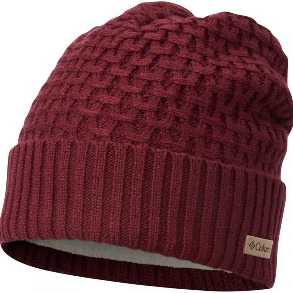 Columbia Mens Hideaway Haven Cabled Beanie Rich Wine