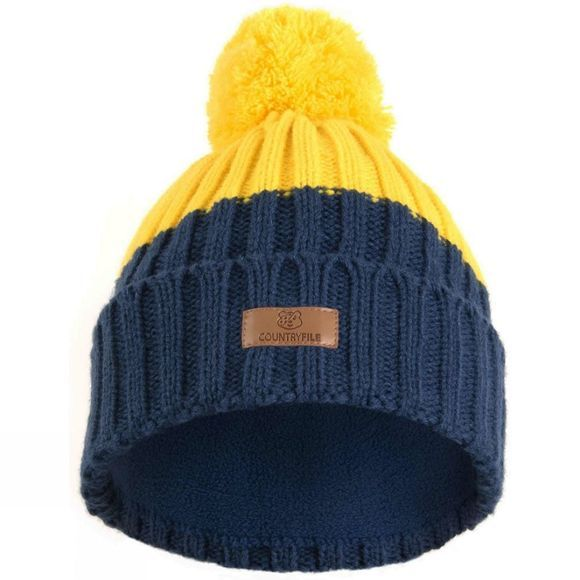 BBC Children in Need Countryfile Ramble Bobble Hat Navy/Yellow