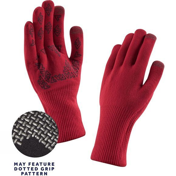 SealSkinz Mens Ultra Grip Gloves Core Red/Black