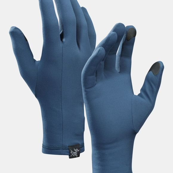 Arc'teryx Mens Rho Glove Hecate Blue