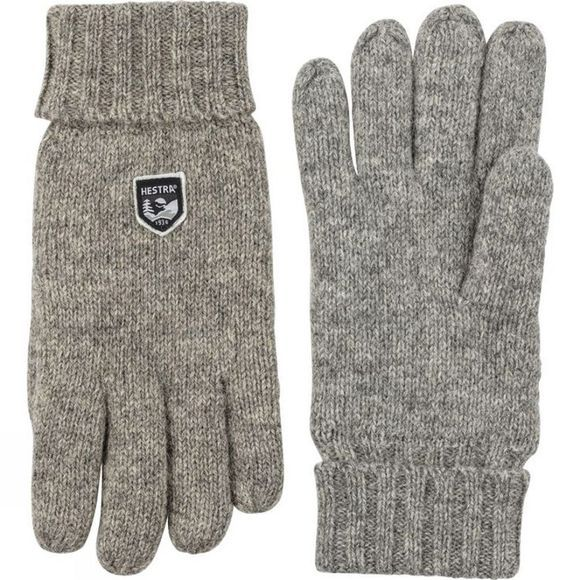 Hestra Mens Basic Wool Glove Grey