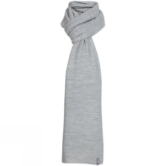 Icebreaker Crush Scarf Snow/ Metro Heather