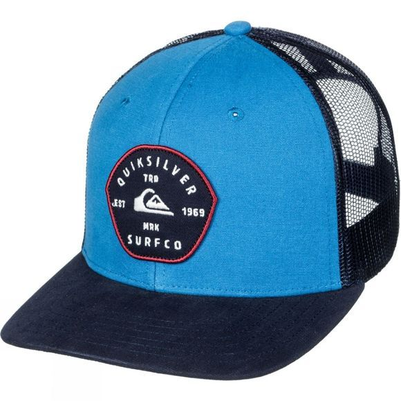 Quiksilver Mens Blocked Out Trucker Hat Blue Cobalt