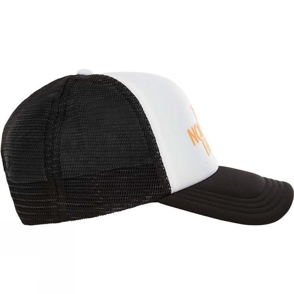 The North Face Mens TNF Logo Trucker Hat TNF White/Zinnia Orange/TNF Black