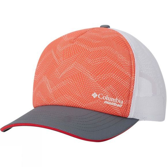 Columbia Montrail Race Day Hat Red Coral, Print