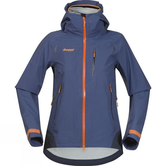 Bergans Womens Storen Jacket Dusty Blue / Night Blue