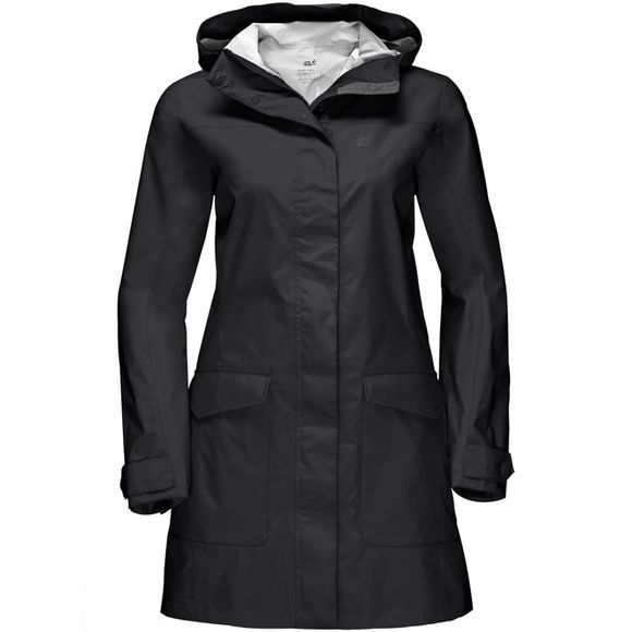 Jack Wolfskin Womens Crosstown Raincoat Black