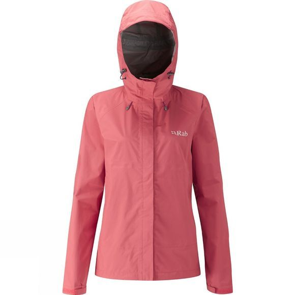 Rab Womens Downpour Jacket Coral