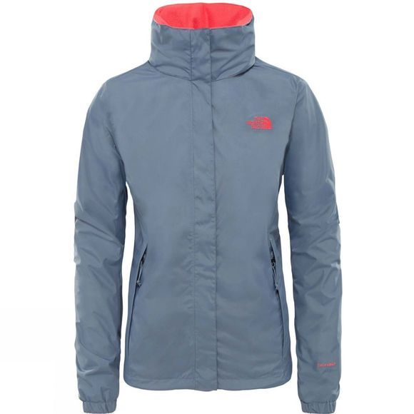 The North Face Womens Resolve 2 Jacket  Grisalle Grey/ Atomic Pink