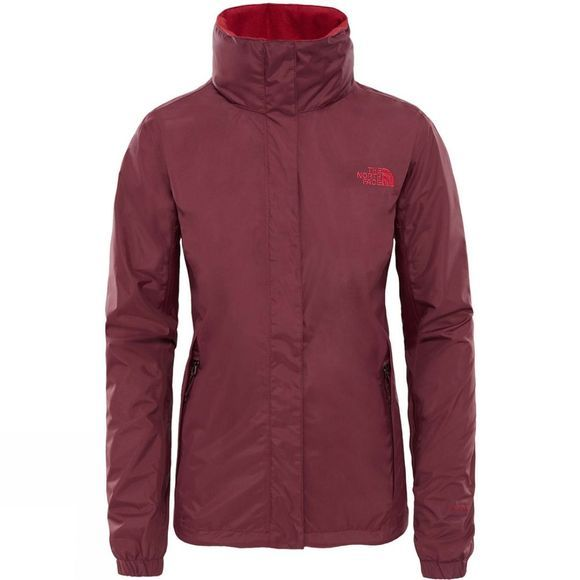 The North Face Womens Resolve 2 Jacket  Fig Brown/ Rumba Red