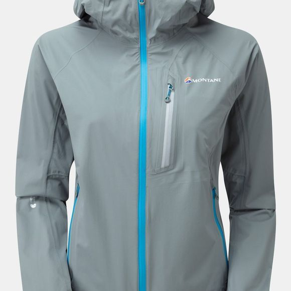 Montane Womens Minimus Stretch Jacket Stratus Grey/Zanskar Blue