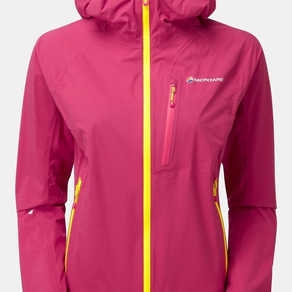 Montane Womens Minimus Stretch Jacket French Berry/Sulpher Yellow