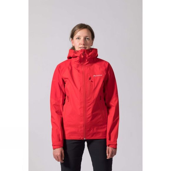 Montane Womens Ajax Jacket Alpine Red/Black