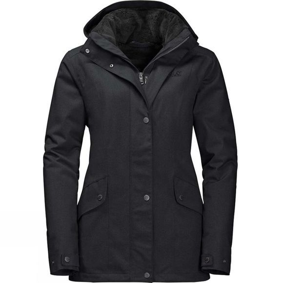 Jack Wolfskin Womens Park Avenue Jacket Black