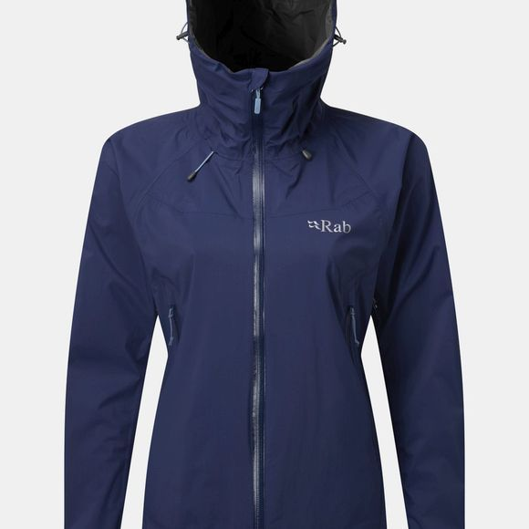 Rab Womens Downpour Plus Jacket Blueprint