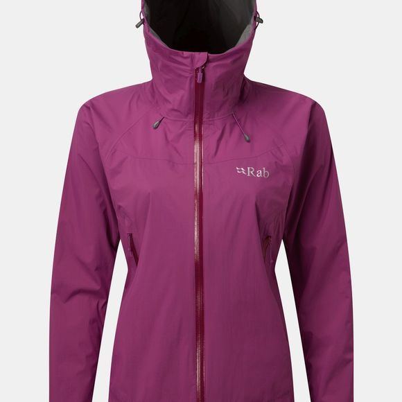 Rab Womens Downpour Plus Jacket Violet