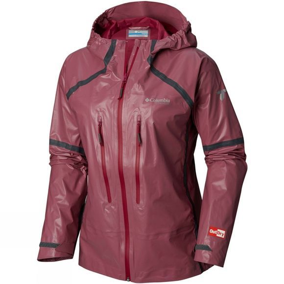 Columbia Womens OutDry Ex Featherweight Shell Jacket Wine Berry