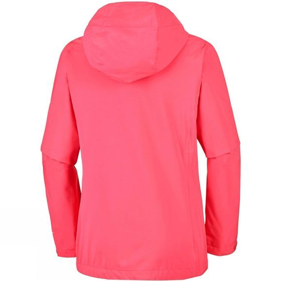 Columbia Womens Trek Light Stretch Rain Jacket Red Coral