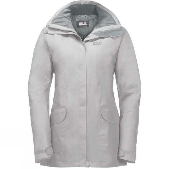 Jack Wolfskin Womens Kiruna Trail Jacket Grey Haze