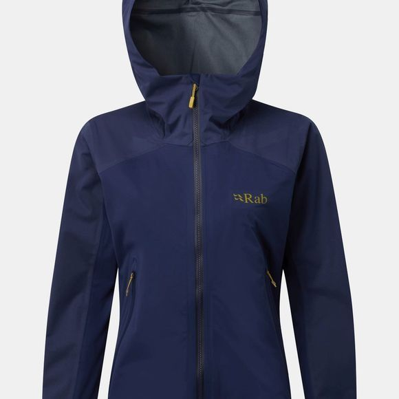 Rab Womens Kinetic Alpine Jacket  Blueprint