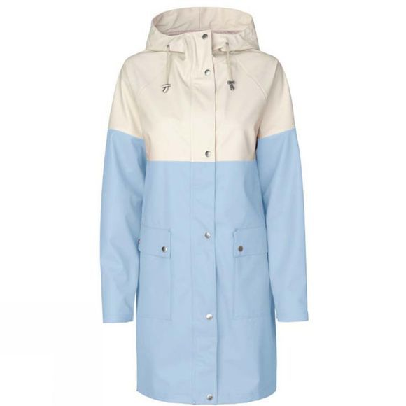 Ilse Jacobsen Womens Rain 112B Jacket White Blue