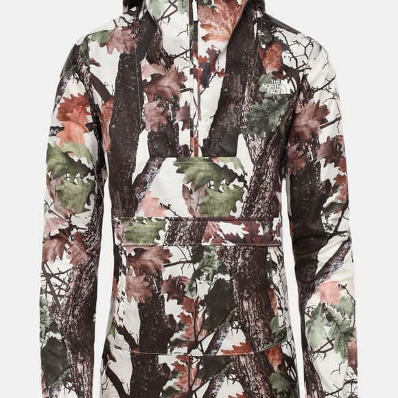 The North Face Womens Printed Fanorak Jacket Vintage White Strider Print
