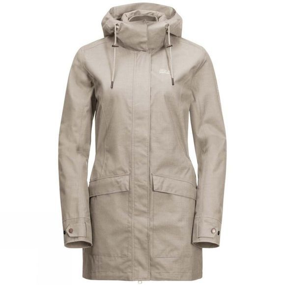 Jack Wolfskin Womens Rocky River Coat Dusty Grey