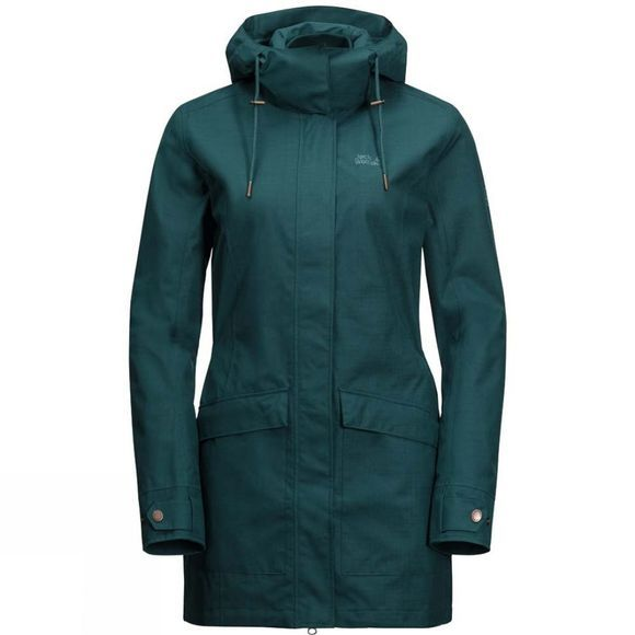Jack Wolfskin Womens Rocky River Coat Teal Green