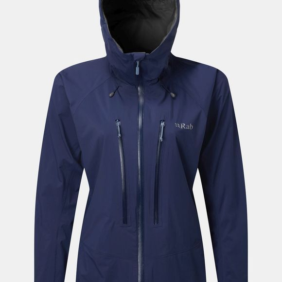 Rab Womens Downpour Alpine  Blueprint