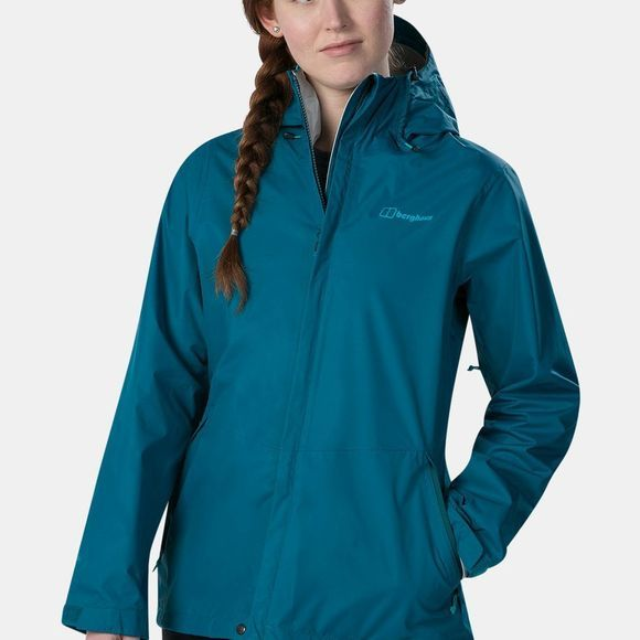 Berghaus Womens Deluge Vented Shell Jacket Deep Lagoon