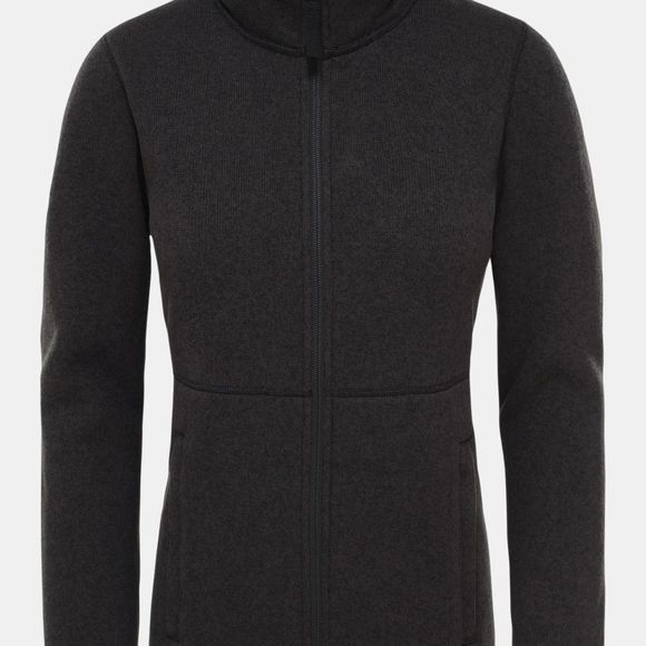 The North Face Womens Crescent Full-Zip Sweatshirt Tnf Black Heather