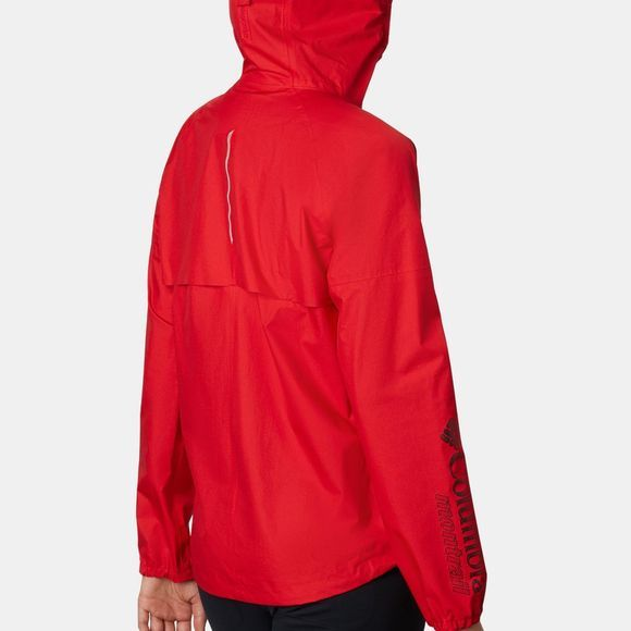 Columbia Womens Rogue Runner Wind Trail Running Jacket Red Spark