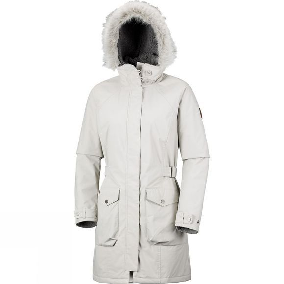 Columbia Womens Grandeur Peak Long Jacket Light Cloud