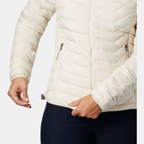Columbia Womens Powder Lite Hooded Jacket Chalk
