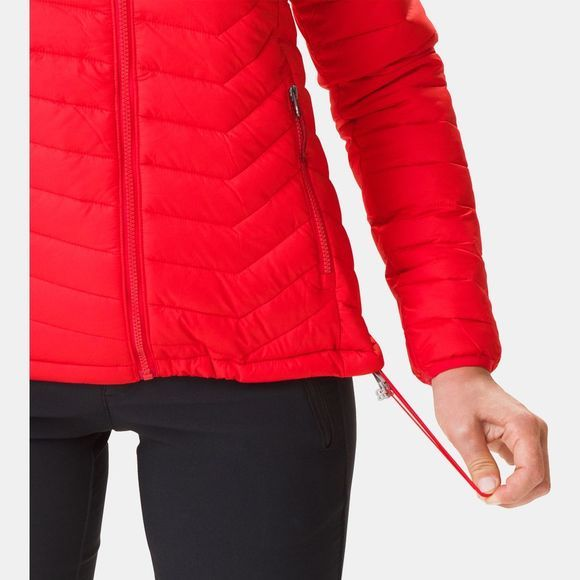 Columbia Womens Powder Lite Hooded Jacket Red Lily
