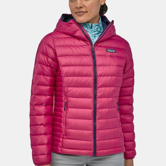 Patagonia Womens Down Sweater Hoody Craft Pink/Classic Navy