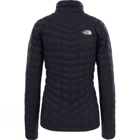 The North Face Womens ThermoBall Full Zip Jacket TNF Black/ Metallic Silver
