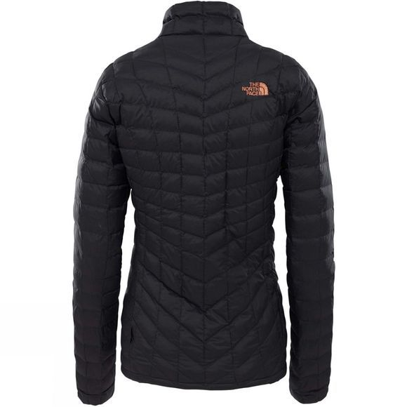 The North Face Womens ThermoBall Full Zip Jacket TNF Black/Metallic Copper