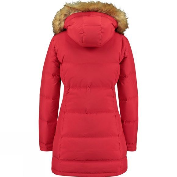 Ayacucho Womens Art Seamless Coat True Red