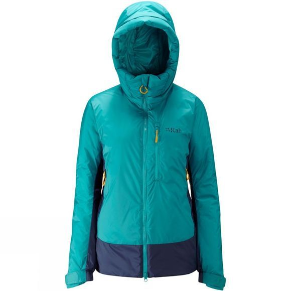 Rab Womens Photon X Belay Jacket Serenity Green