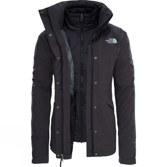 The North Face Women's Synthetic Insulated Triclimate Jacket 2018 TNF Black Heather