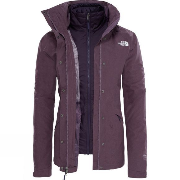 The North Face Womens Synthetic Insulated Triclimate Jacket TNF Black Plum Dark Heather