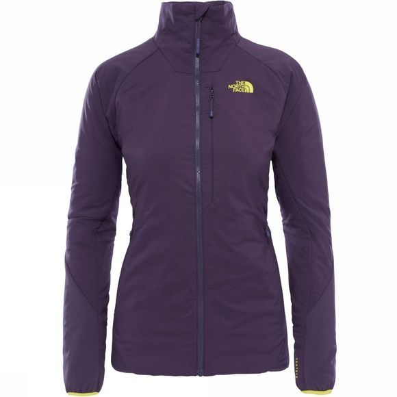 The North Face Womens Ventrix Jacket Dark Eggplant Purple/ Acid Yellow