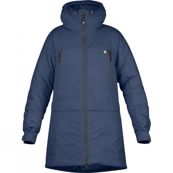 Fjallraven Womens Bergtagen Insulation Parka Mountain Blue