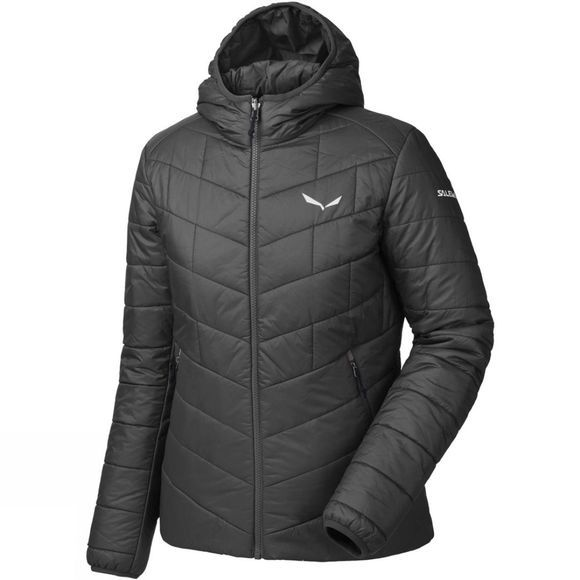 Salewa Womens Fanes Tirol Wool Hooded Jacket Black Out