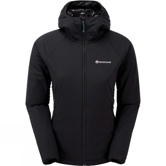 Montane Womens Prismatic Jacket Black-Zanskar Blue