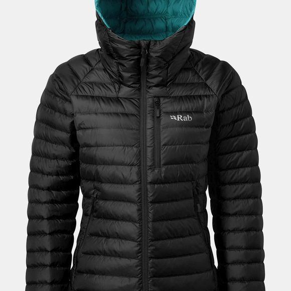Rab Womens Microlight Alpine Jacket Black/Seaglass