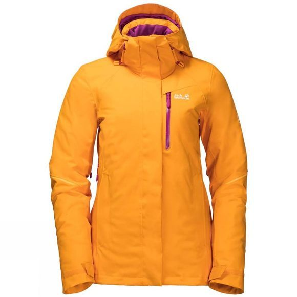 Jack Wolfskin Womens ExoLight Icy Jacket Citrine Yellow