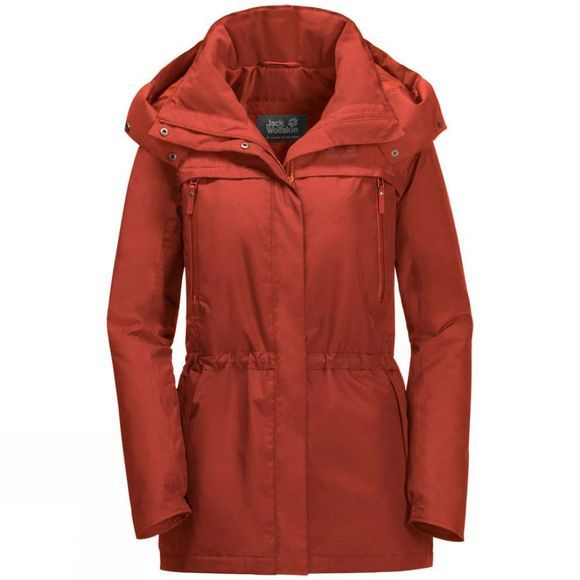 Jack Wolfskin Womens Fairway Jacket Mexican Pepper